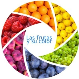 frutas y verduras según su color