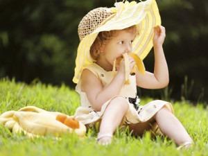 la fruta en la infancia