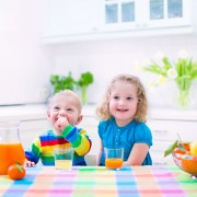 fruta en la infancia