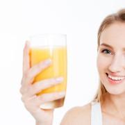 zumo de fruta salud dental