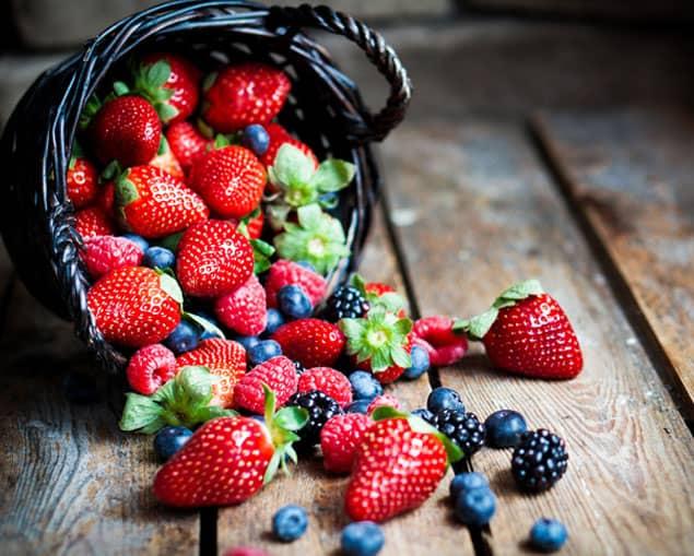 Frutos rojos. Beneficios de la fruta