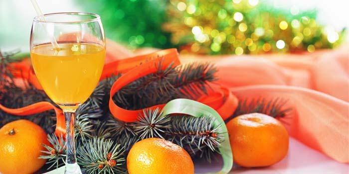 fruta en el menú navideño