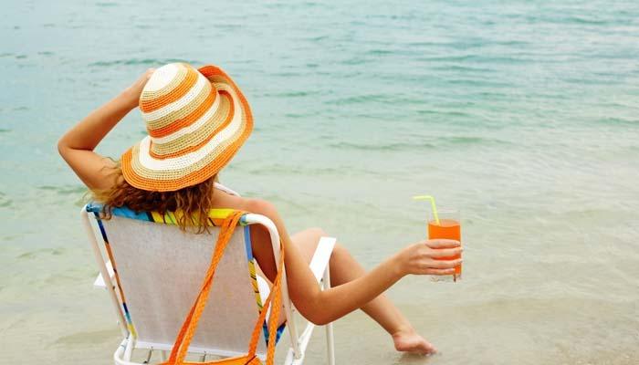 zumo de fruta playa
