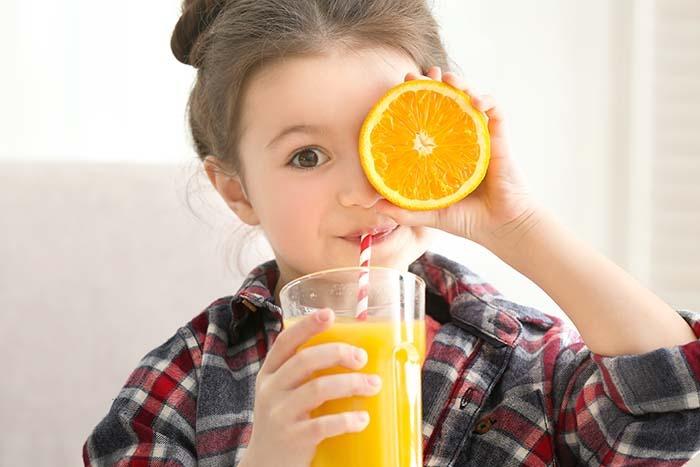 Zumos de fruta para los niños