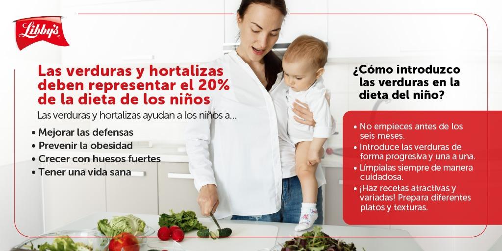 verduras alimentación infantil